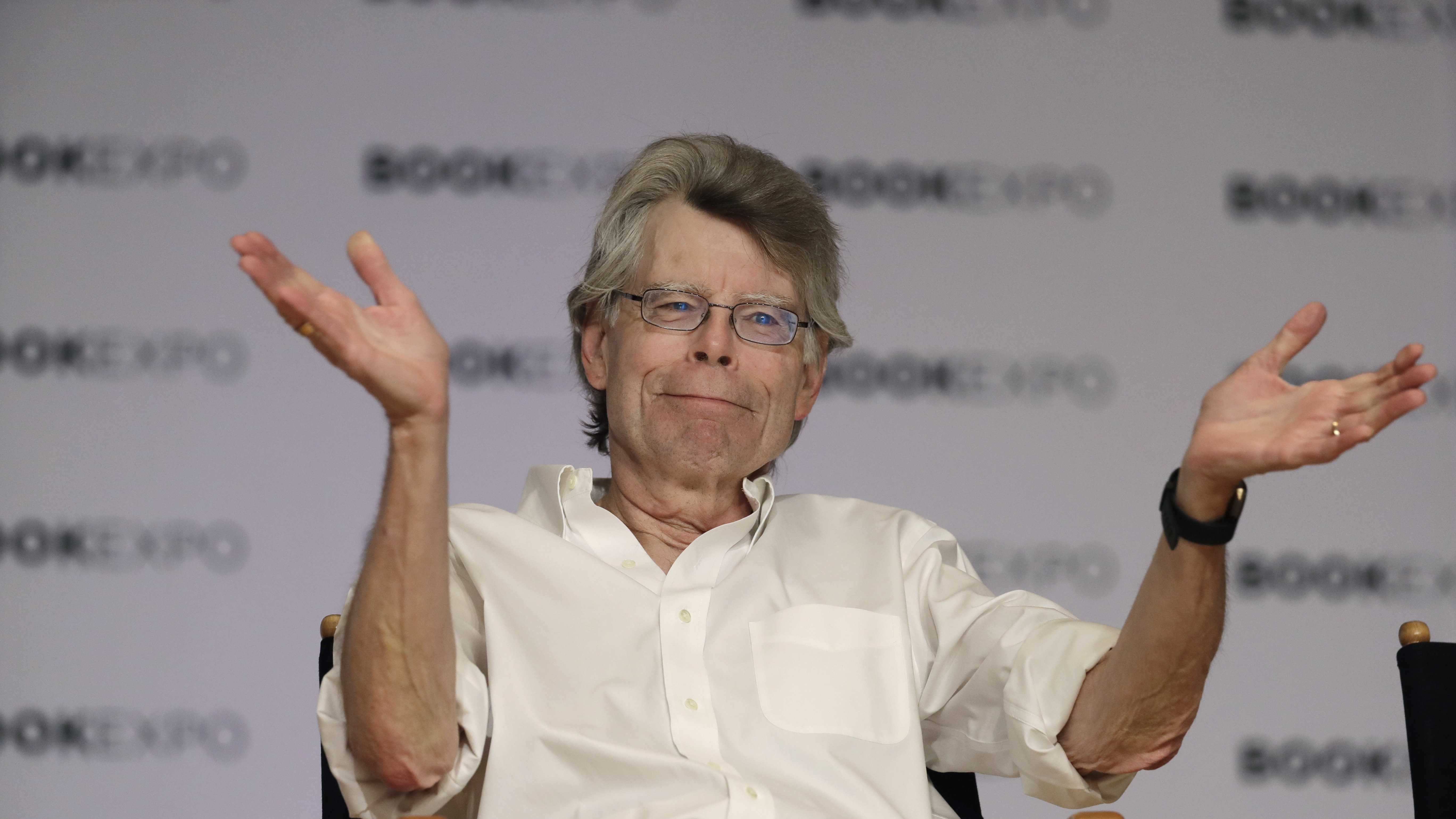 """Author Stephen King speaks at Book Expo America in New York. The house that inspired Stephen King's novel """"Pet Sematary"""" is up for sale in Maine."""