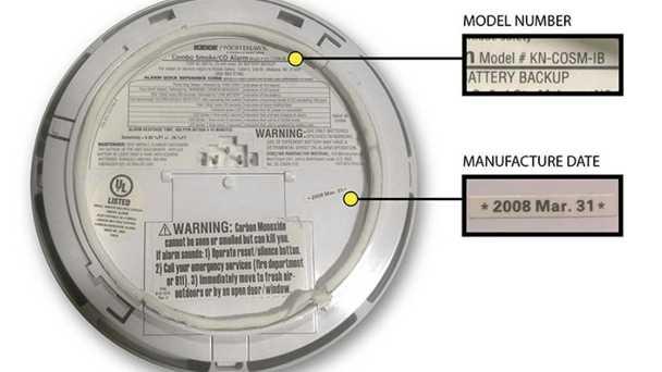 Smoke alarm recall