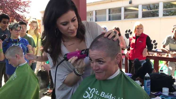 Sutter principal shaved her head