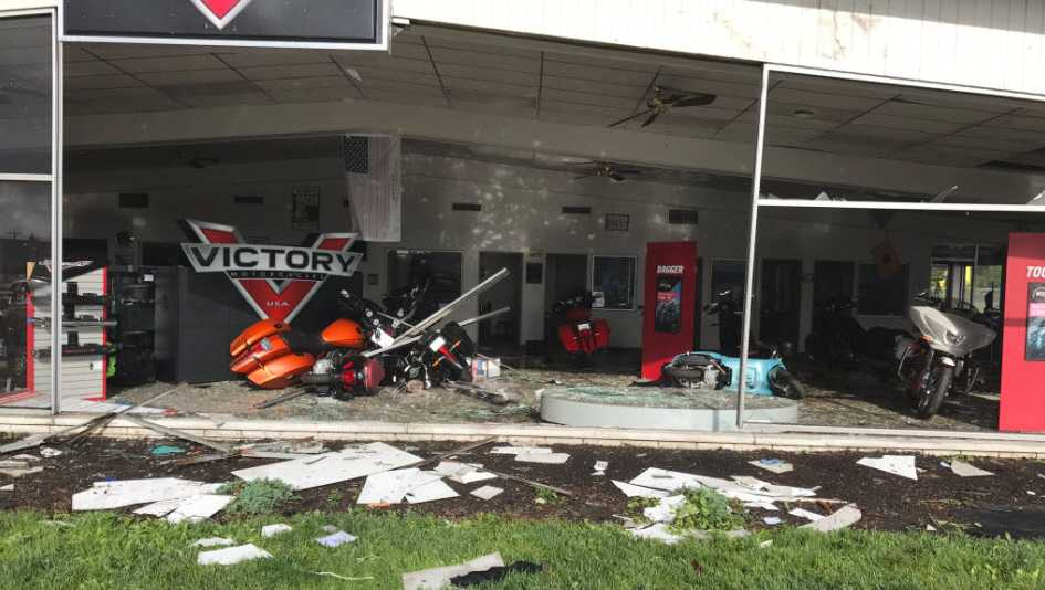 A tornado touched down in Park Layne, Ohio, just north of Dayton.