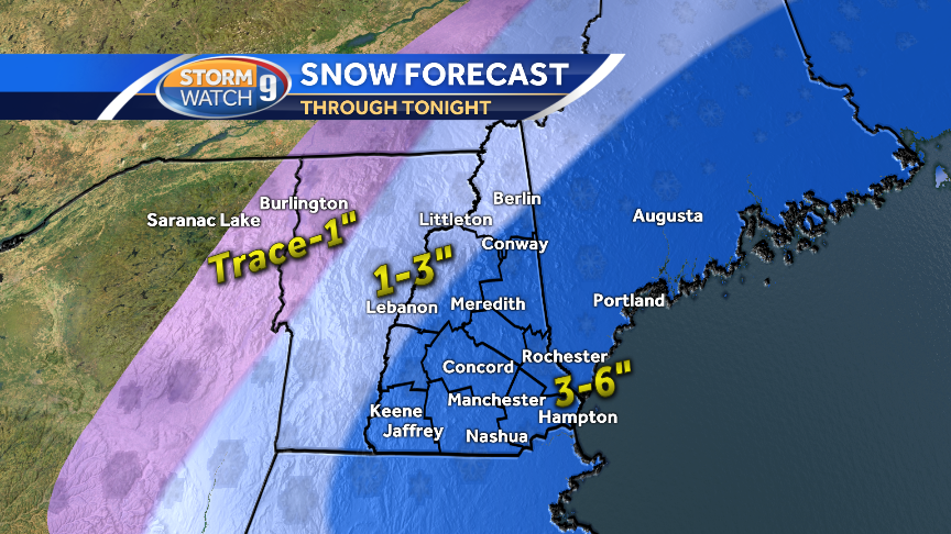 Heaviest snowfall through the evening 36 inches expected for most