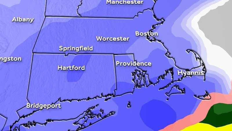 Snow futurecast map Feb 9 2017