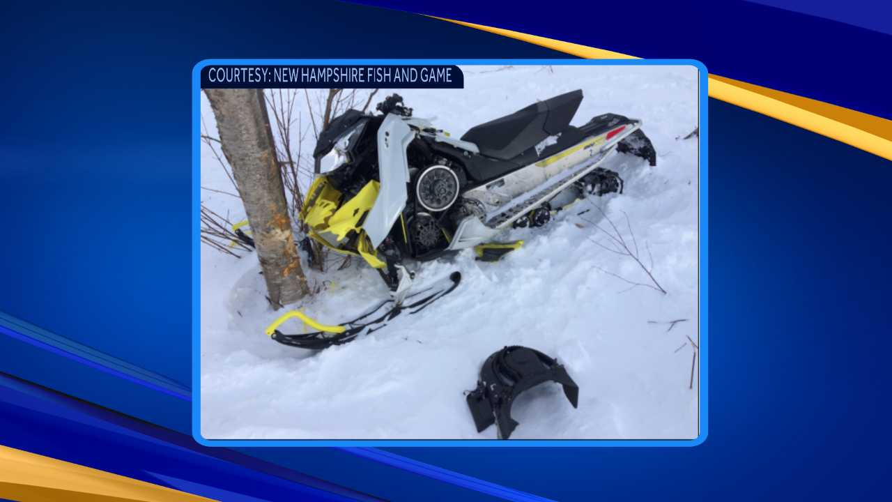 Man seriously hurt in snowmobile crash with tree