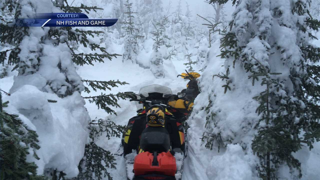 Snowmobilers rescued by Fish and Game in Pittsburg
