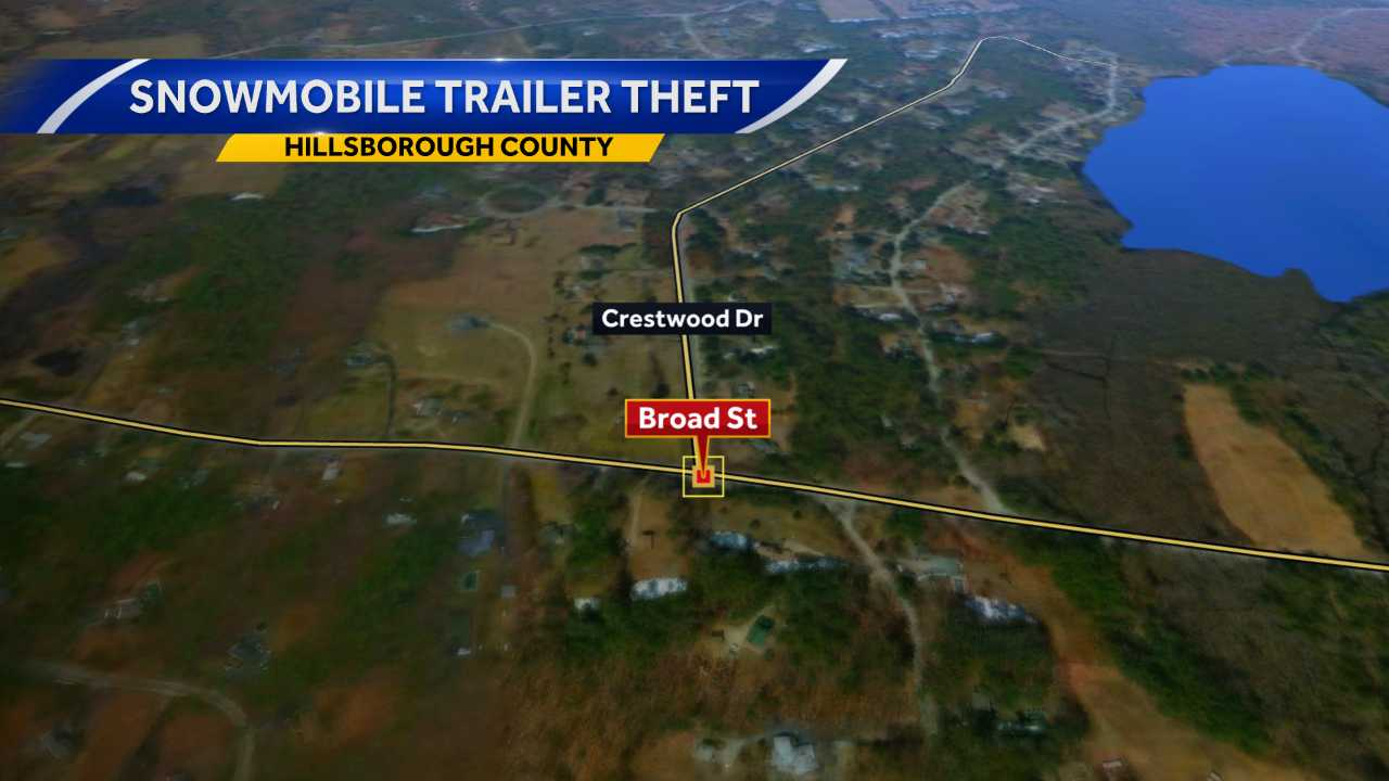 Hollis police investigating snowmobile trailer theft