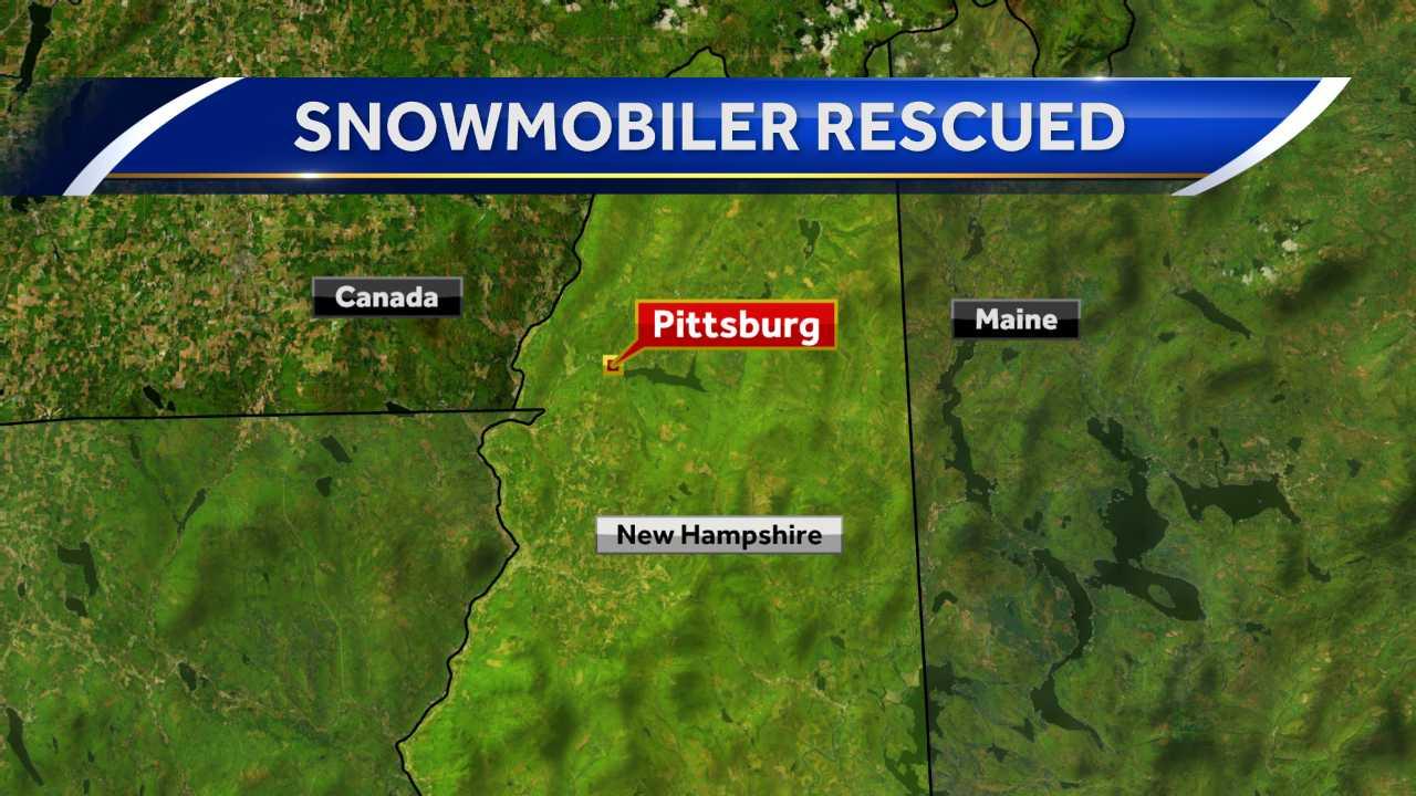Snowmobiler rescued in Pittsburg