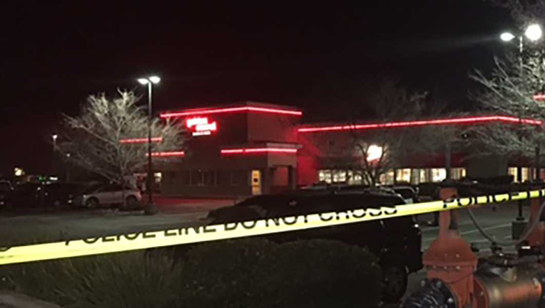 Sacramento police investigate a shooting on Tuesday, Feb. 14, 2017, at a Golden Corral restaurant.