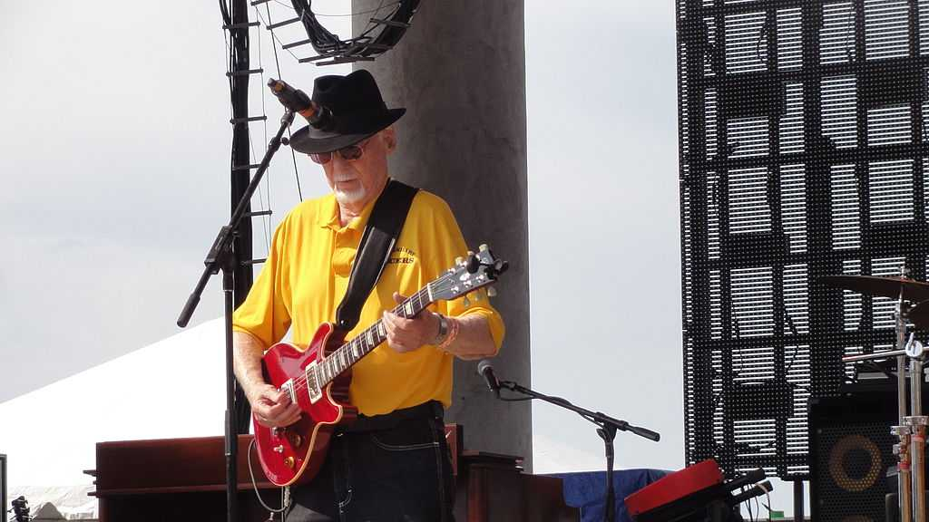Sonny Burgess playing at Riverfest in Little Rock, Arkansas, May 2013.