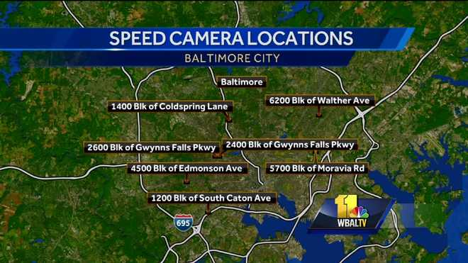 Speed Cameras Activated In Baltimore To Issue Tickets - Us speed camera map