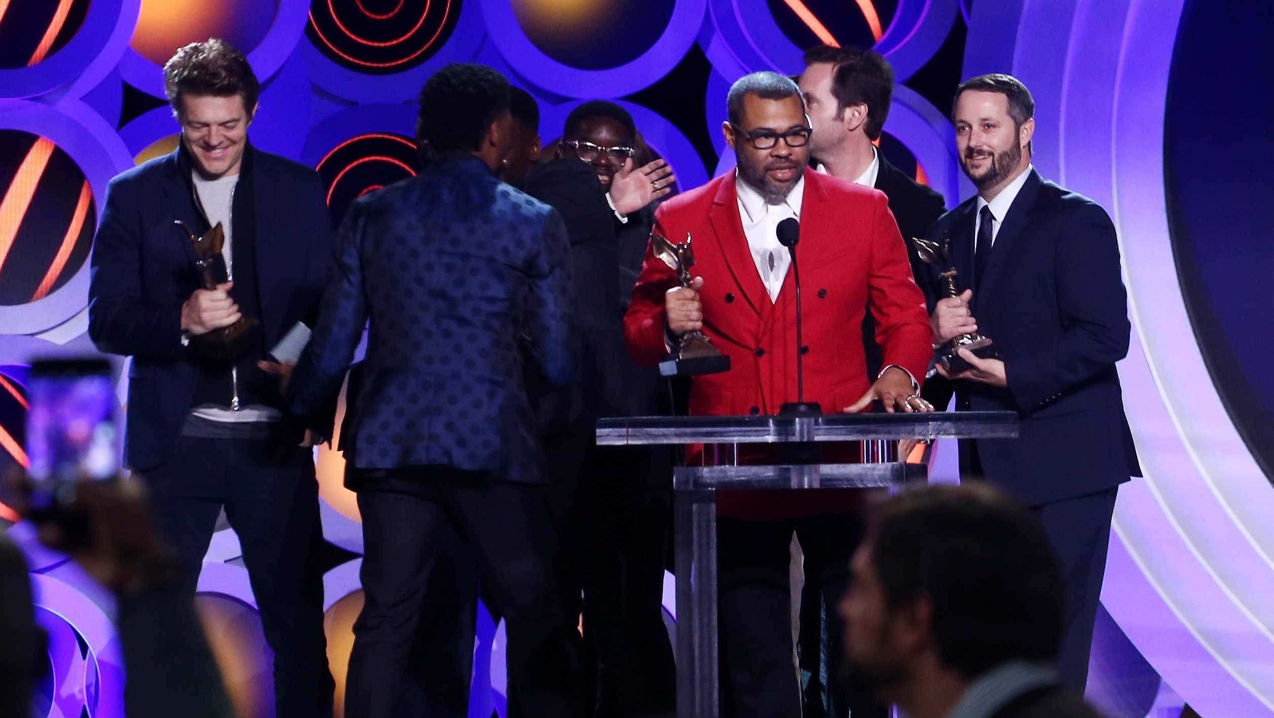 Writer/director Jordan Peele accepts Best Feature for 'Get Out' onstage during the 2018 Film Independent Spirit Awards on March 3, 2018 in Santa Monica, California.