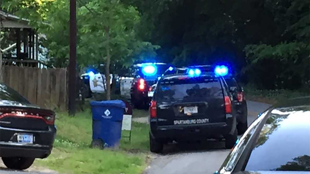 The standoff in on Williams St. in Woodruff