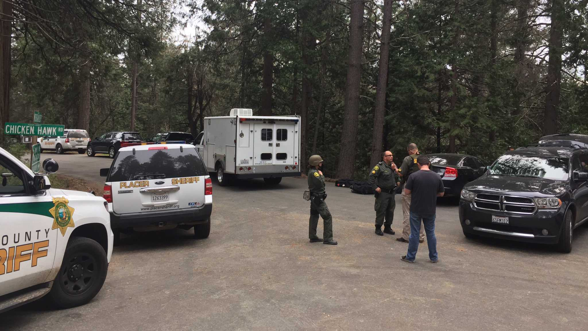 Deputies were in a standoff with an armed man on Wednesday, April 5, 2017, outside of a Foresthill home, the Placer County Sheriff's Office said.