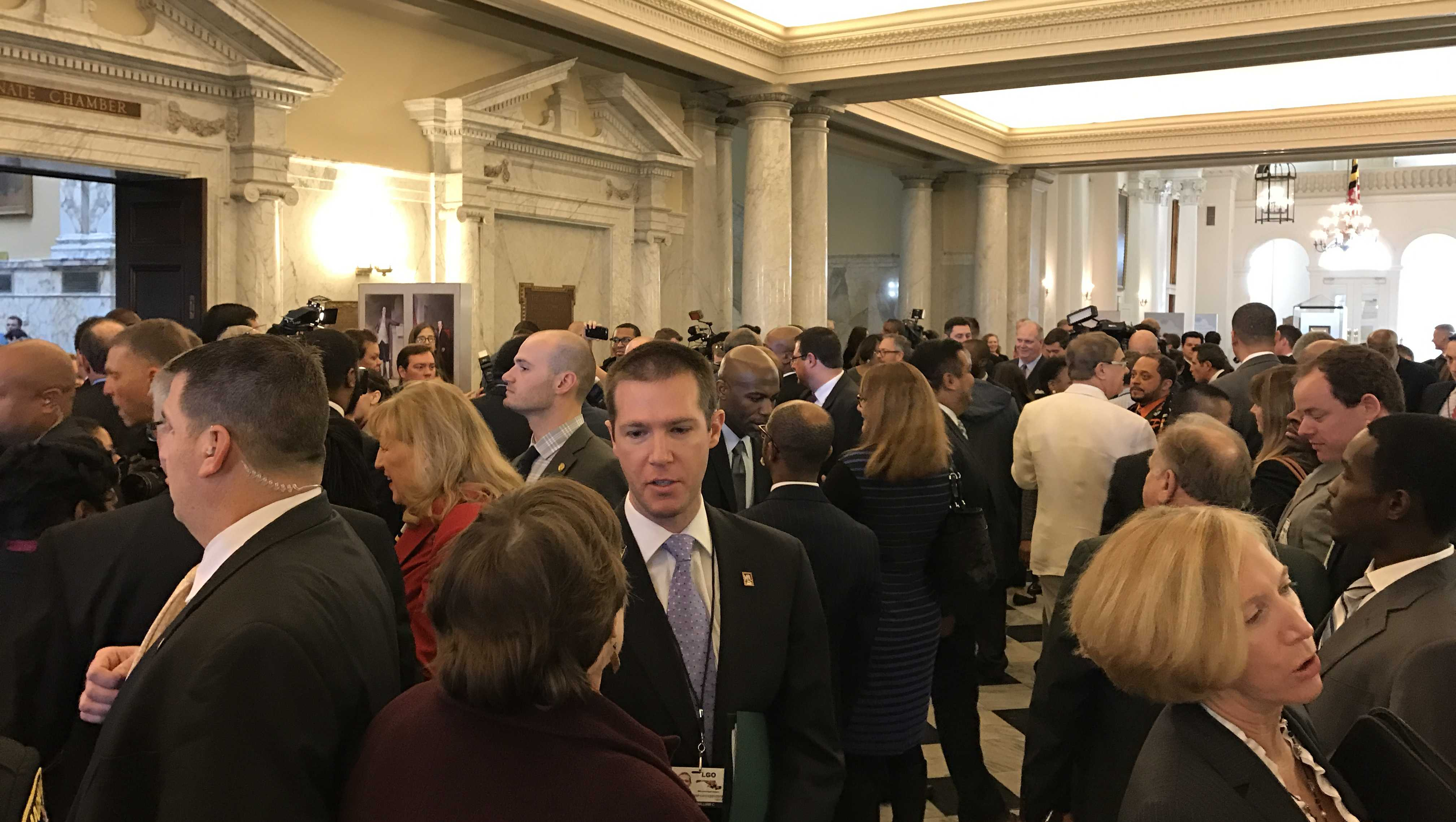 State House Hall packed start of session