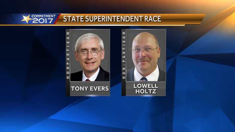 Tony Evers and Lowell Holtz