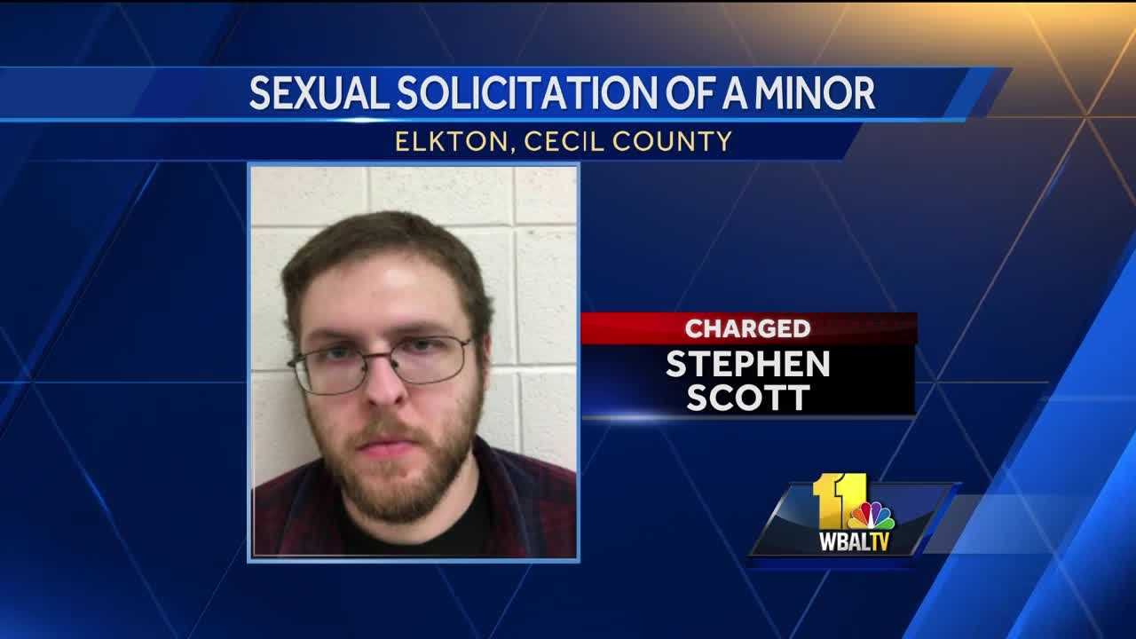 Stephen Scott, 28, is charged with sexual solicitation of a minor.