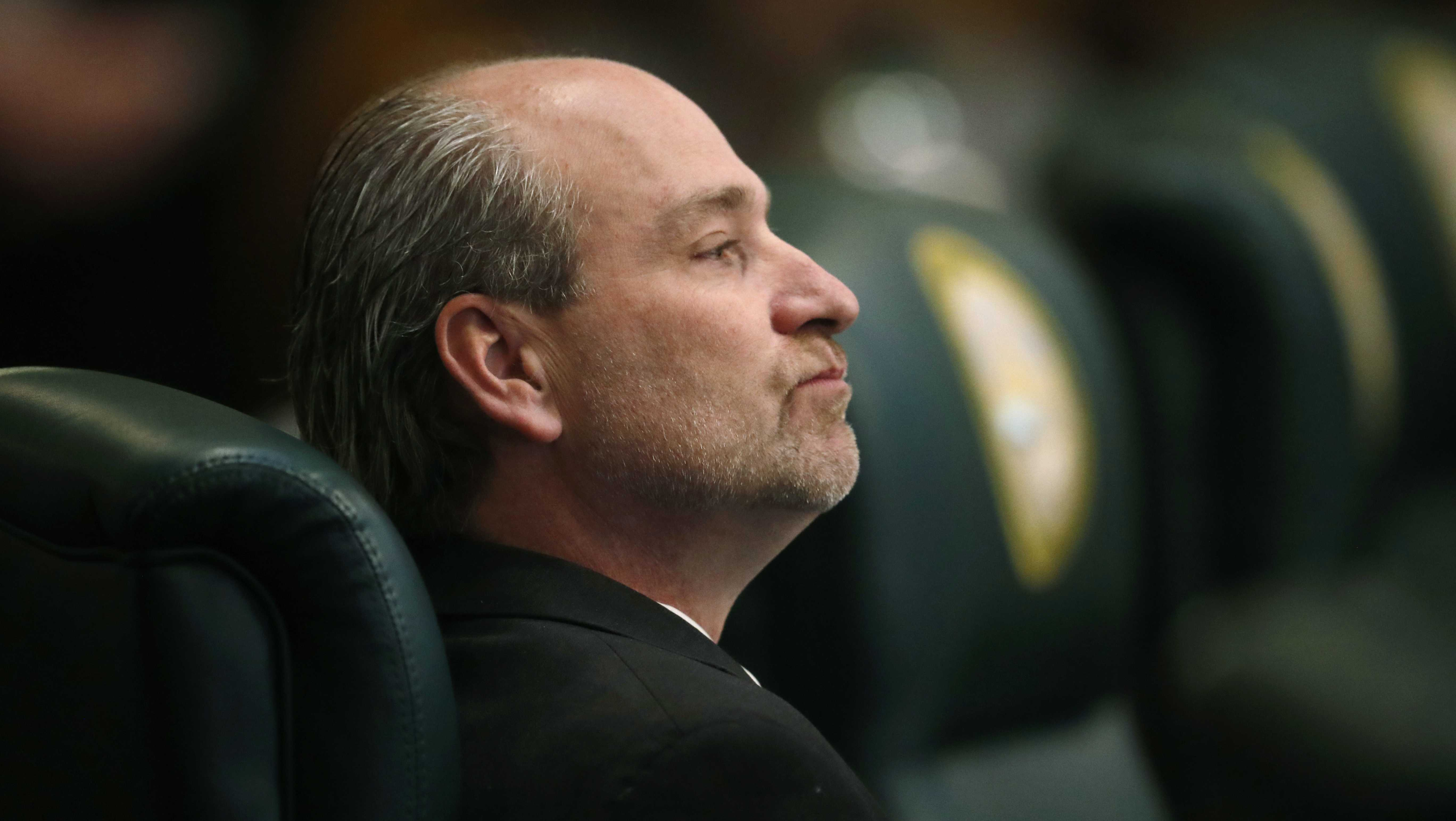 Colorado state Rep. Steve Lebsock, D-Thornton, listens during a debate in the chamber whether to expel the lawmaker over sexual misconduct allegations from his peers Friday, March 2, 2018, in the State Capitol in Denver. After hours of debate, Lebsock was expelled from the House