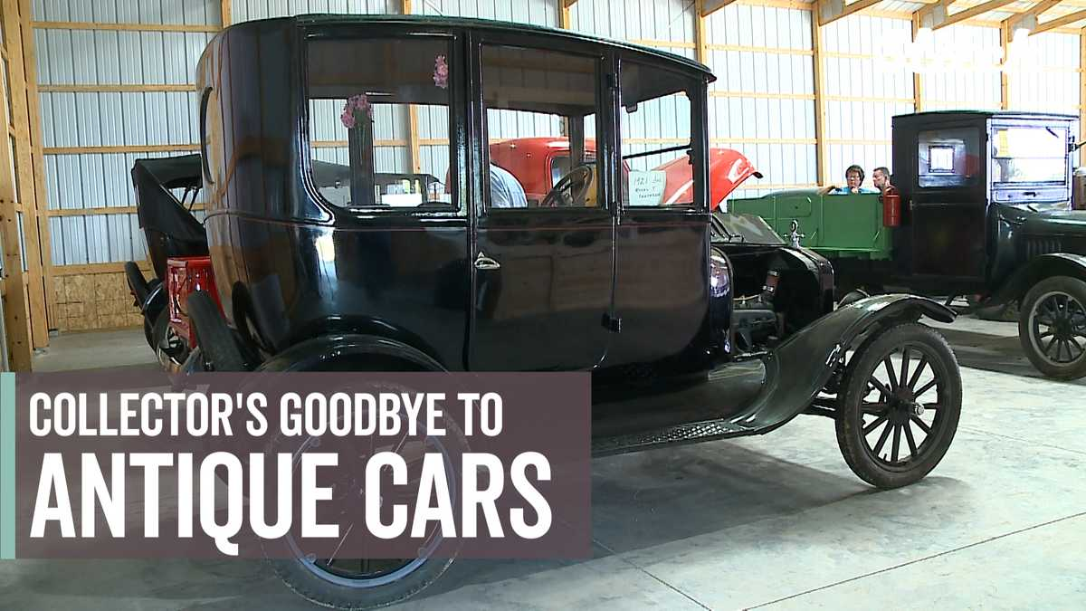 Saying goodbye to antique cars: Iowa man parts with collection