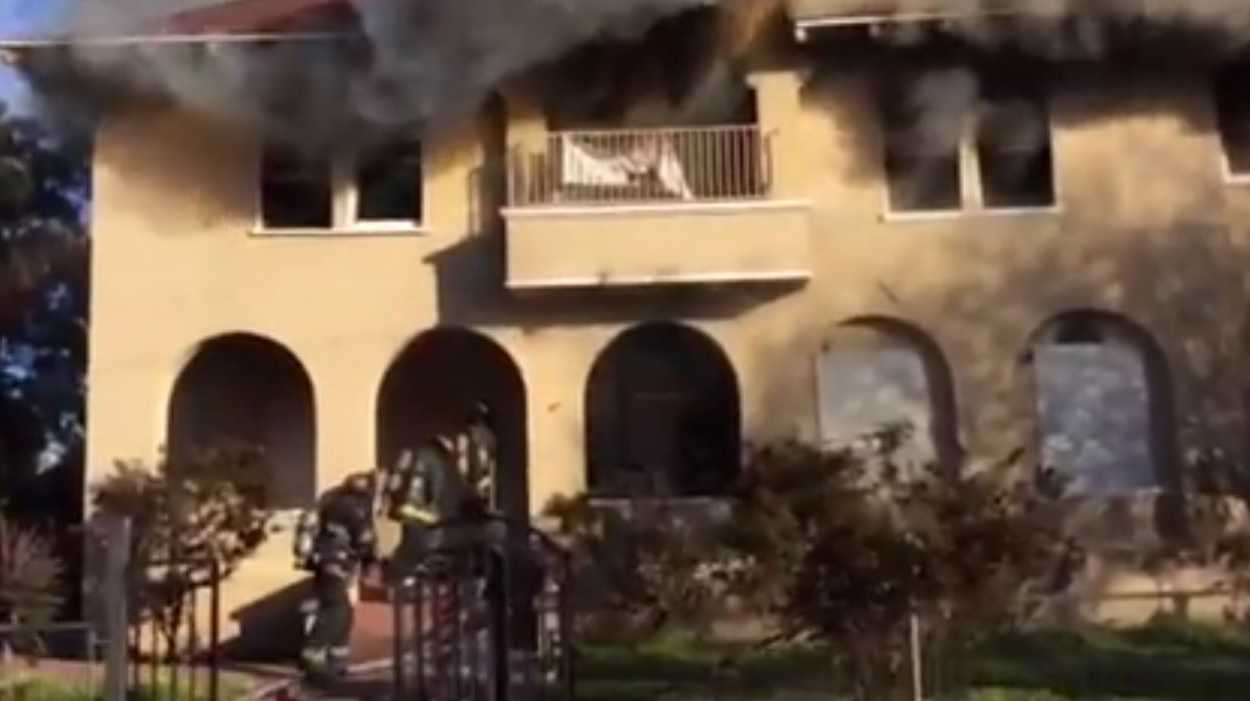 Stockton firefighters responded to a W. Acardia structure fire Saturday morning.