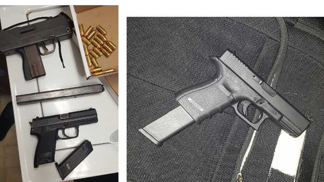 Officers seized a MAC-10 submachine gun, a loaded Glock .40 caliber handgun and a HK 9 9mm pistol during a traffic stop on Saturday, Dec. 10, 2016, the Stockton Police Department said.