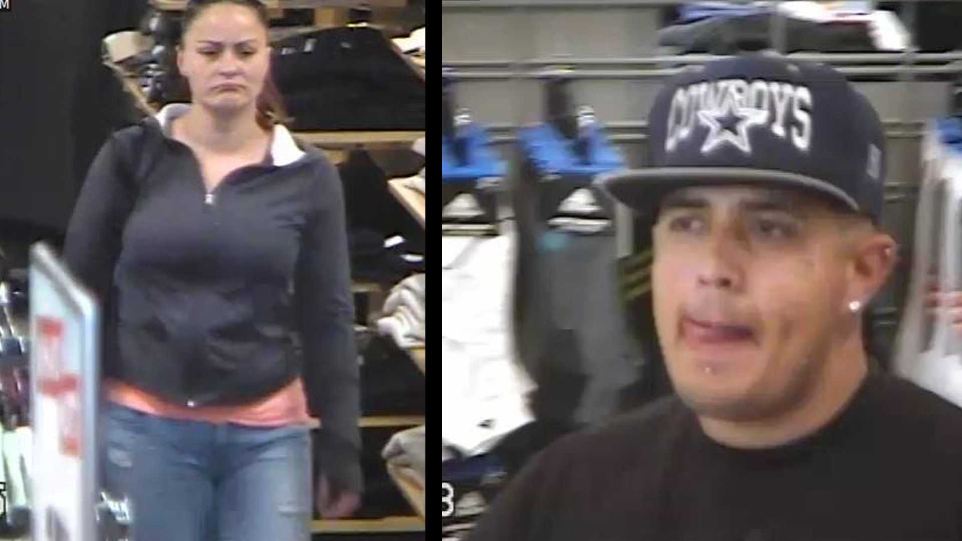 Investigators need help identifying these two people who are suspected of stealing from a business and driving a stolen vehicle, the Stockton Police Department said on Monday, June 5, 2017.