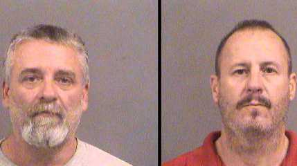 Suspects in Kansas bomb threat, Gavin Wright and Curtis Allen.