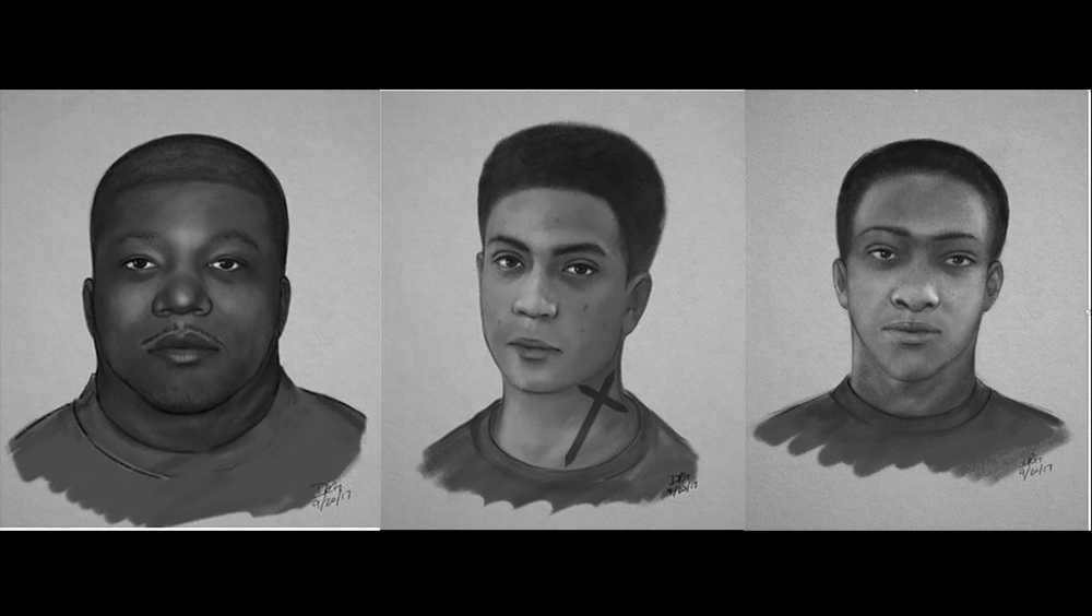 Police looking for 3 men who assaulted woman near baseball field