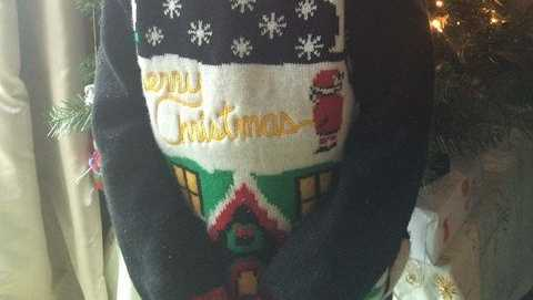 This ugly Christmas sweater almost landed this student in trouble.