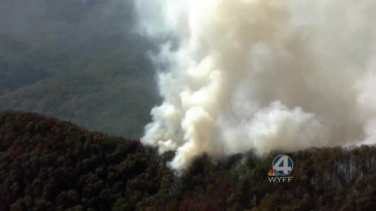 Fire near Table Rock State Park