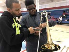 Talladega College band departs for D.C.