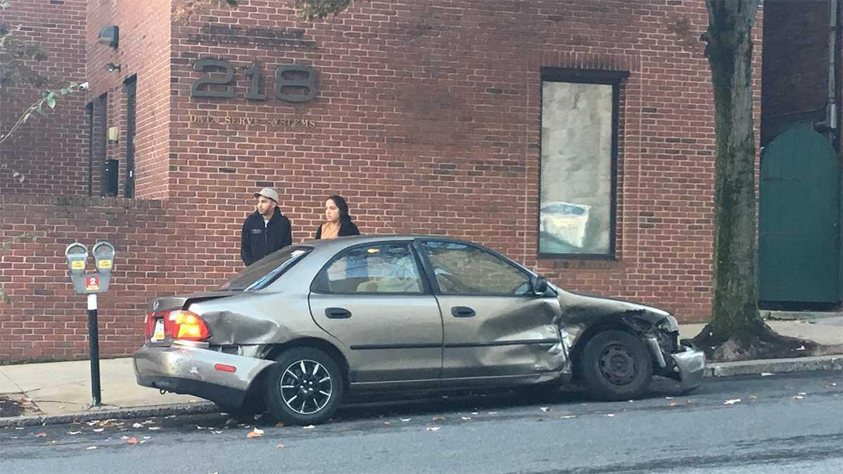 Car crash Tally Ho Lancaster