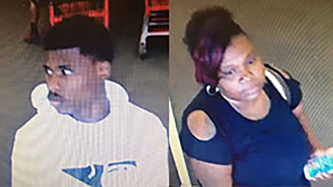 Lodi police are looking for two suspects accused of a theft.