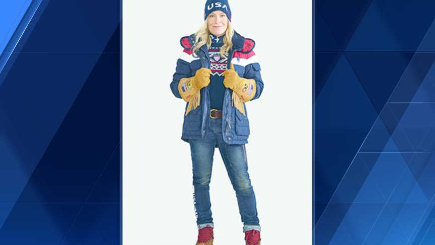 Snowboarder Jamie Anderson wears one of the jackets.