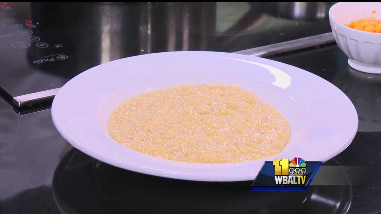 The Corner Pantry's squash grits with aged cheddar