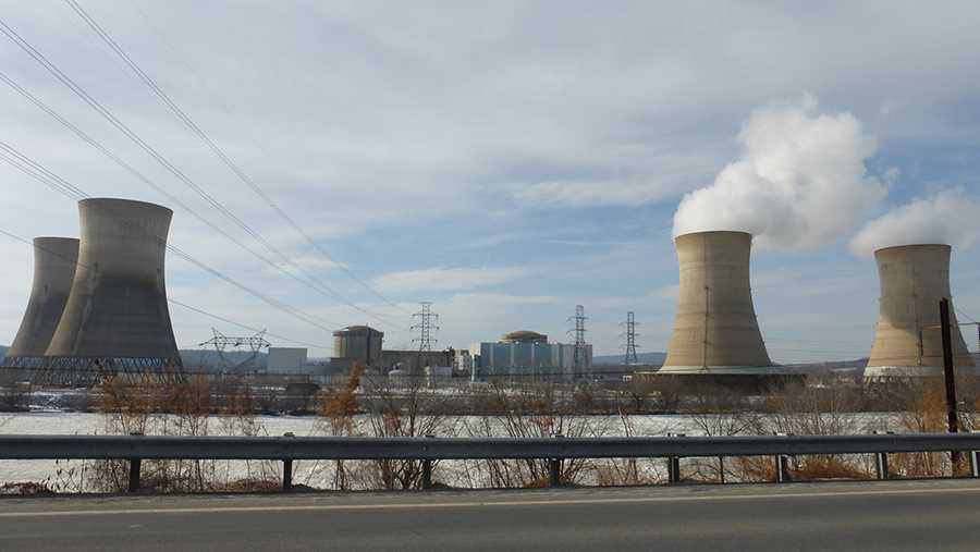 The Three Mile Island nuclear plant near Harrisburg.