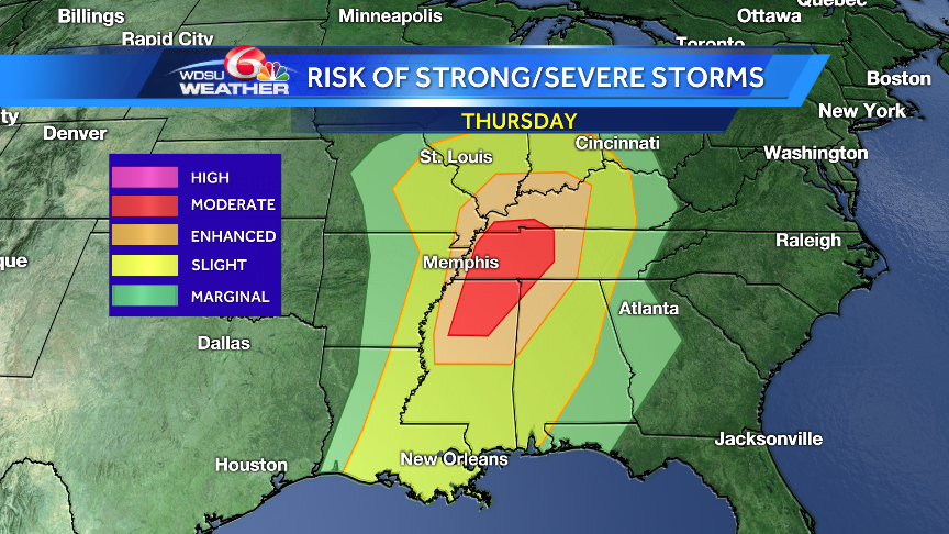 Heavy rains with stronger storms possible Thursday