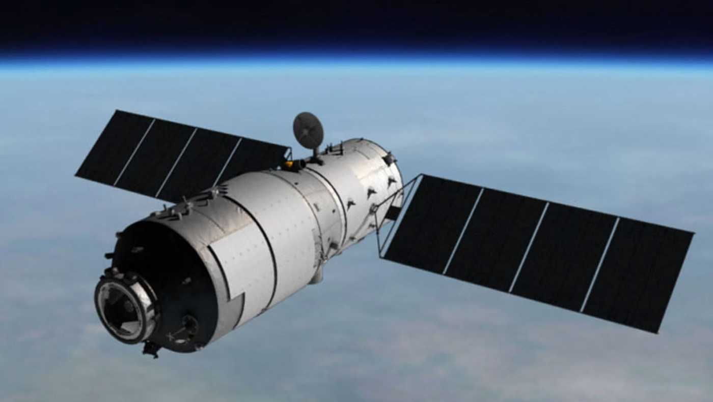 Artist's rendering of Tiangong-1 space station.