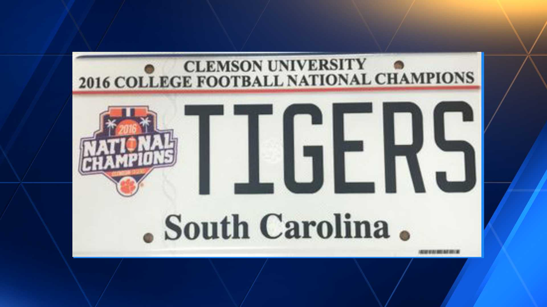 Clemson Tigers License Plate 2016 Champs