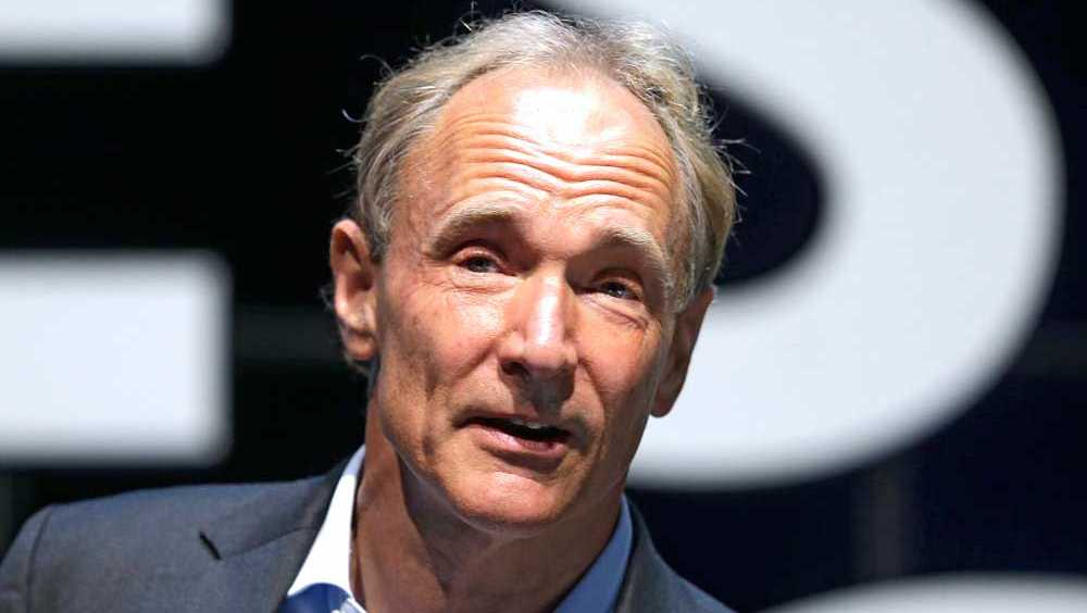English computer scientist Tim Berners Lee, best known as the inventor of the World Wide Web attends the Cannes Lions 2015, International Advertising Festival in Cannes, southern France, Tuesday, June 23, 2015. Berners Lee implemented the first successful communication between a Hypertext Transfer Protocol (HTTP) client and server via the Internet. The Cannes Lions International Advertising Festival is a world's meeting place for professionals in the communications industry