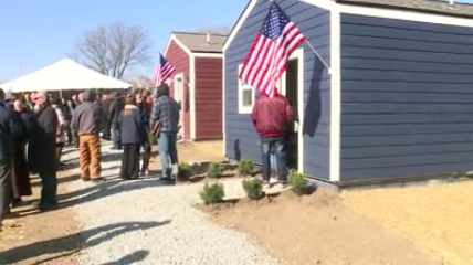 tiny homes helps homeless veterans get new lease on life