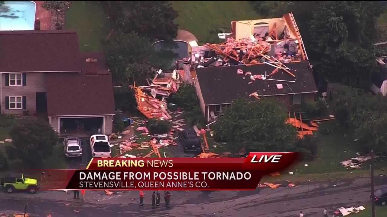 Possible Tornado Causes Severe Damage on Kent Island