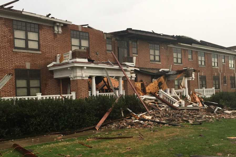 Some students at William Carey University reported minor injuries after the tornado ripped through campus.