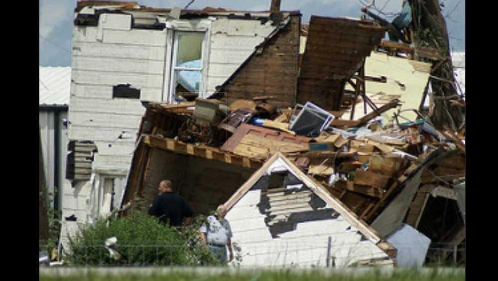 File photo of tornado damage