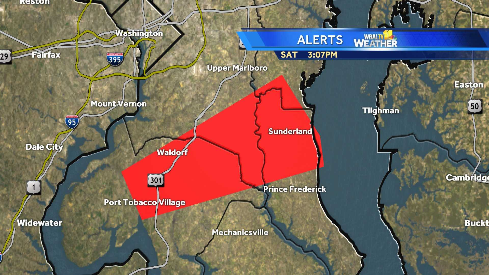 Tornado confirmed in Charles County on