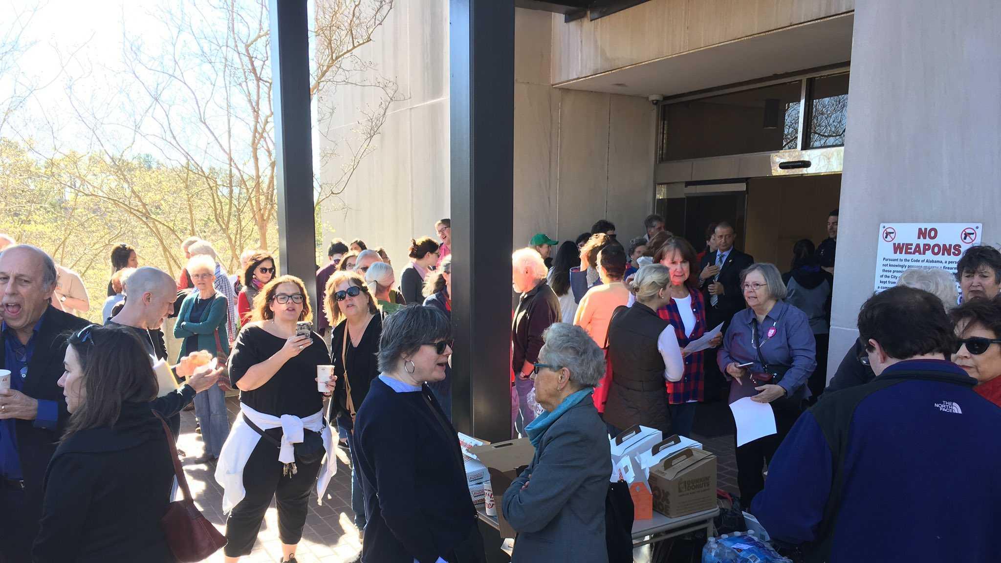 U.S. Rep. Gary Palmer hosts a Town Hall in Hoover, Alabama, Saturday, Feb. 25, 2017.