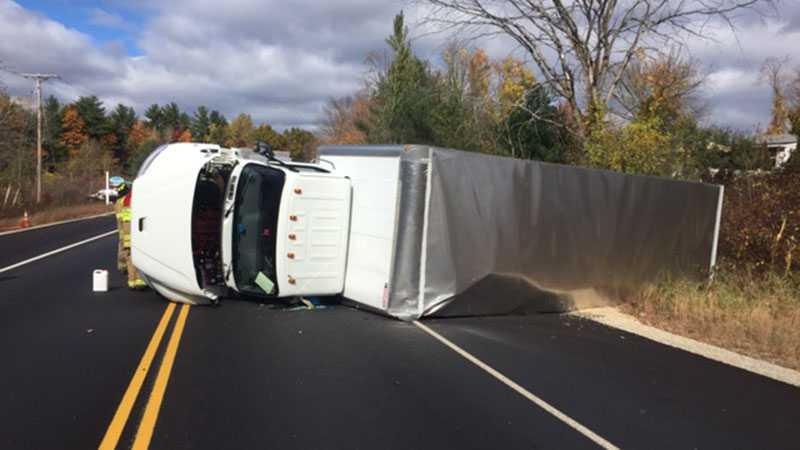 Tractor-trailer rollover