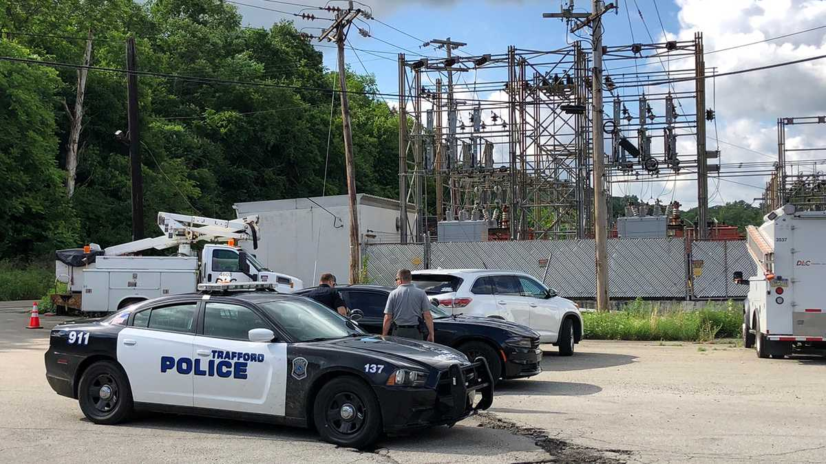 Break-in reported at power substation in Trafford; 2 taken to hospital
