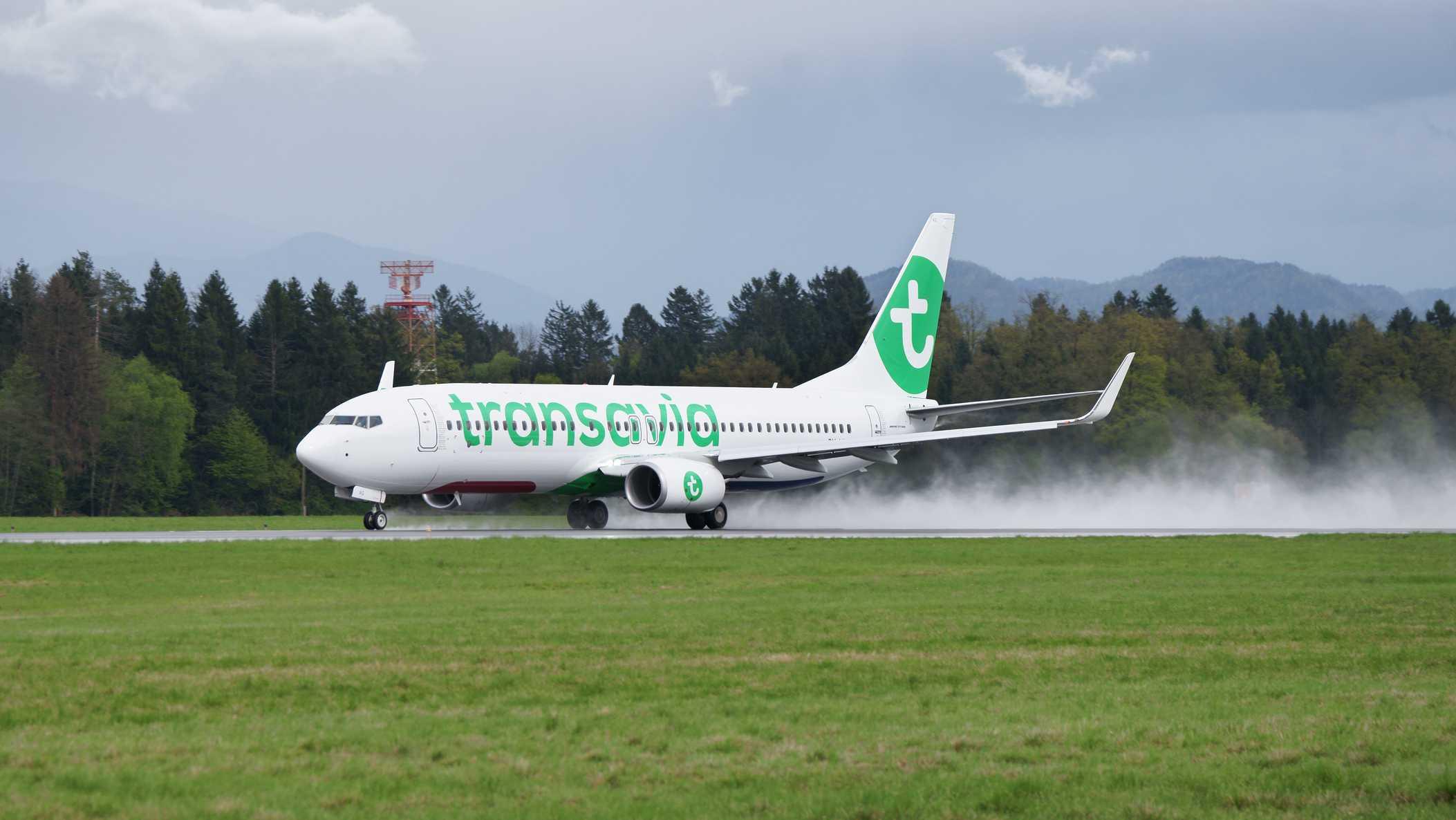 Transavia Boeing 737-8K2 stock image