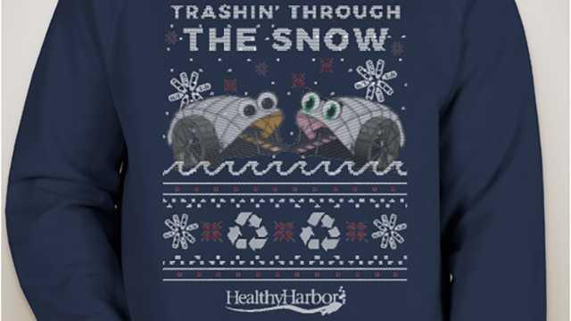 Trashin Through the Snow sweatshirt