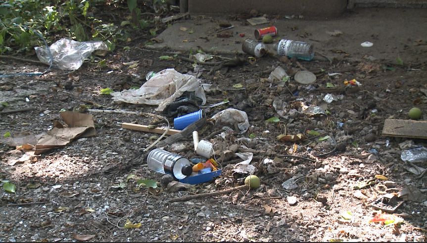 Homeowners receive code violation for trash left by homeless