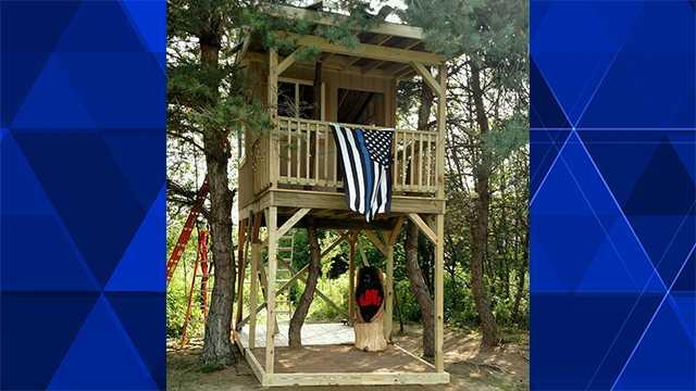 Treehouse built for slain trooper's daughter